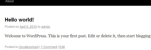 Sử dụng ảnh đại diện trong WordPress 3.0