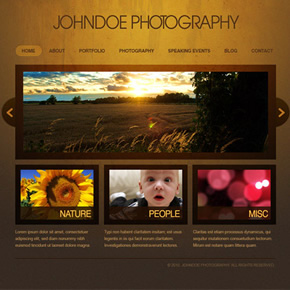 Thiết kế web layout: Photography