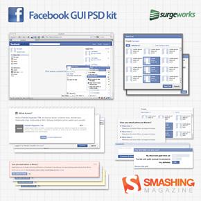 Giao diện Facebook dạng psd