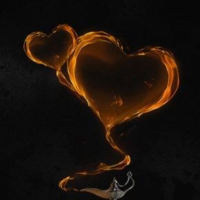 Tạo trái tim bốc cháy với photoshop