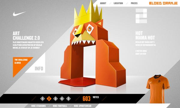 Nike Bloed Oranje Art Challenge 2.0