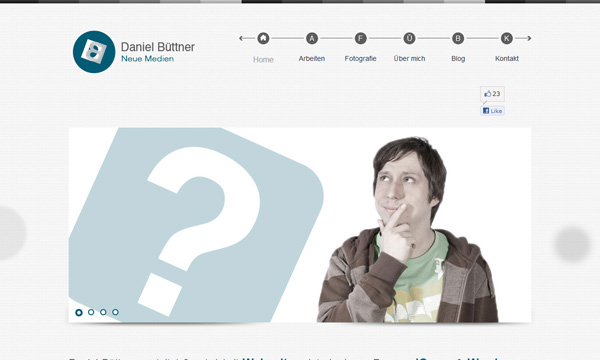 Daniel Büttner Webdesign Start