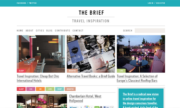 The Brief; Travel Inspiration