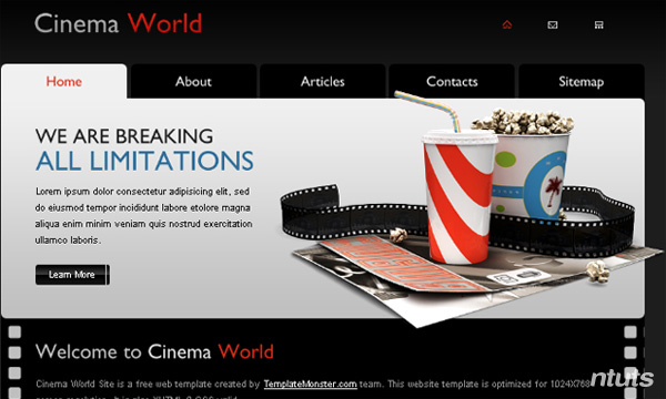 Free Cinema Website Template