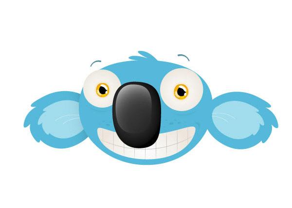 Thiết kế đầu chú gấu Koala