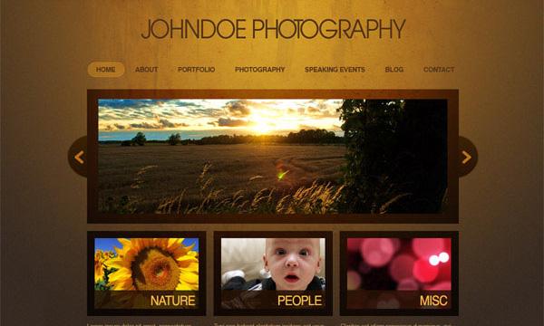 Thiết kế webite cho nhiếp ảnh gia với Photoshop