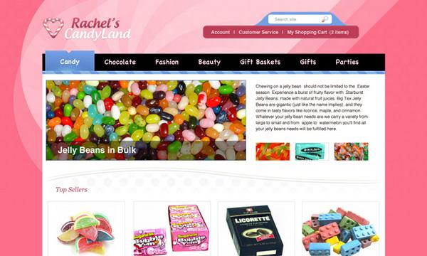 Thiết kế Website bán kẹo bằng Photoshop