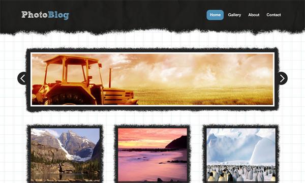 Thiết kế blog ảnh với photoshop