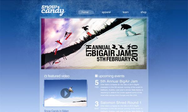 Thiết kế giao diện website ván trượt tuyết