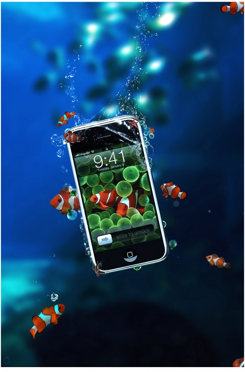 Design a Tropical iPhone Advertisement