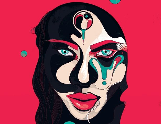 Create an abstract portrait