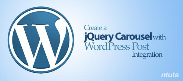 Cách tạo jquery carousel với bài viết của Wordpress