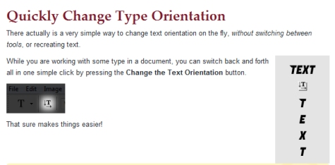 Tip: Thay đổi hướng chữ trong Photoshop