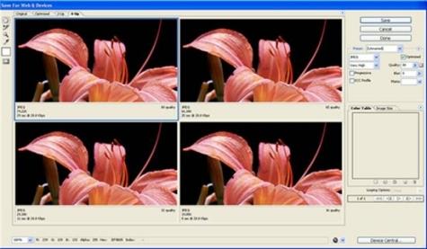 Tối ưu ảnh để đưa lên web sử dụng Photoshop